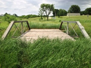 Photo of a field bridge, much like the one we laid on so many years ago.  Photo by Dave King.